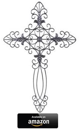 Elegant-Black-Metal-Fleur-De-Lis-Cross