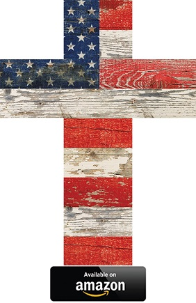 GRAHAM-DUNN-American-Flag-Patriotic-wall-cross
