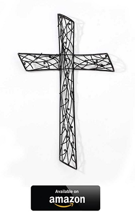 Intertwined-Vines-Metal-Decorative-Hanging-Wall-Cross