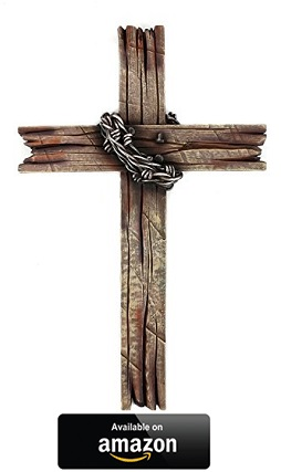 Mardel-Rustic-Wood-Looking-Barbed-Wire-Wall-Cross