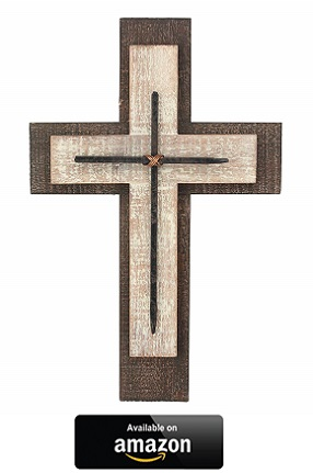 Rustic-wood-stone-Wall-Crosses