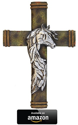 Silver-Horse-wall-cross