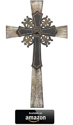 Wood-and-Metal-Decorative-Hanging-Wall-Cross